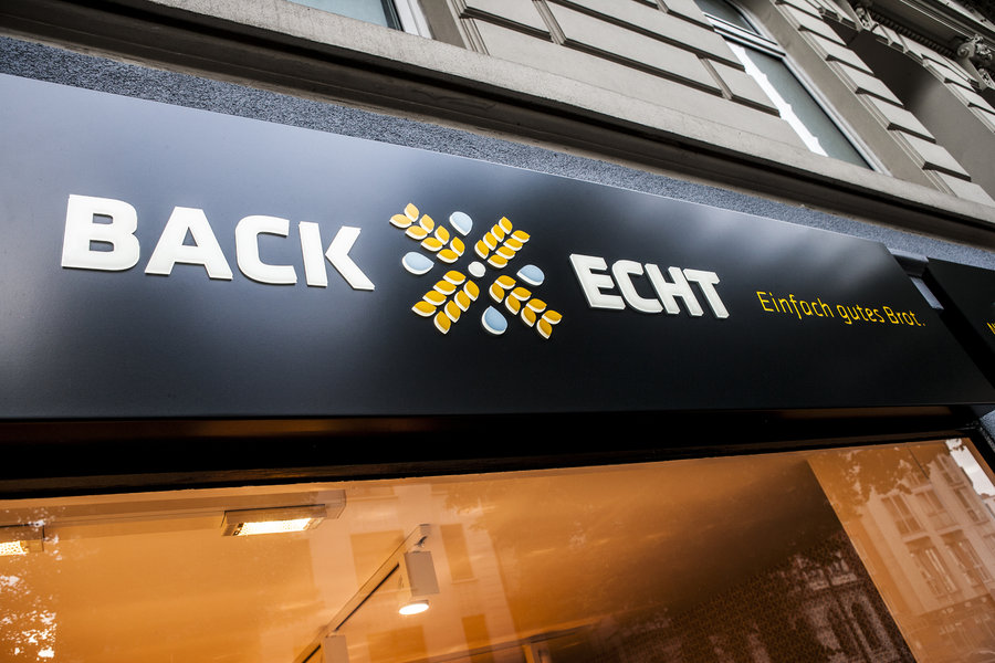 Backecht, Bäckerei, Hamburg, Design, Decker, Logo, Brand,